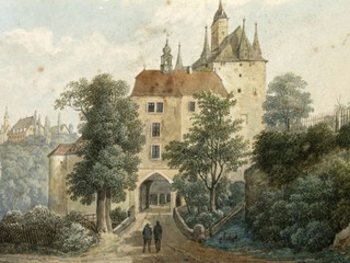Historical image of the gate side dating from 1803